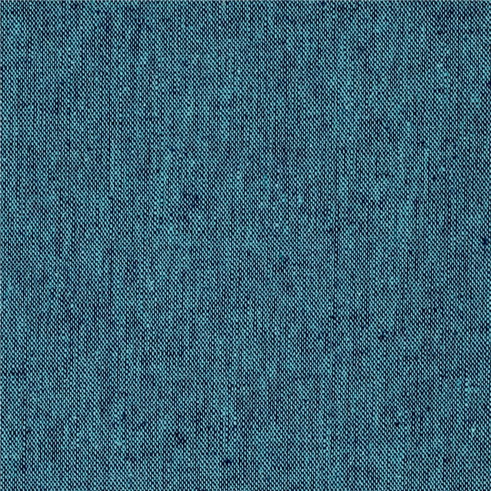 Essex Yarn Dyed Linen Peacock 1282 Blend Woven Shot Chambray Cotton Linen F