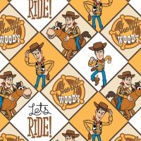 Toy Story 4 Disney Pixar Woody Sherriff Cowboy Wild West Star Bullseye Cotton Fabric