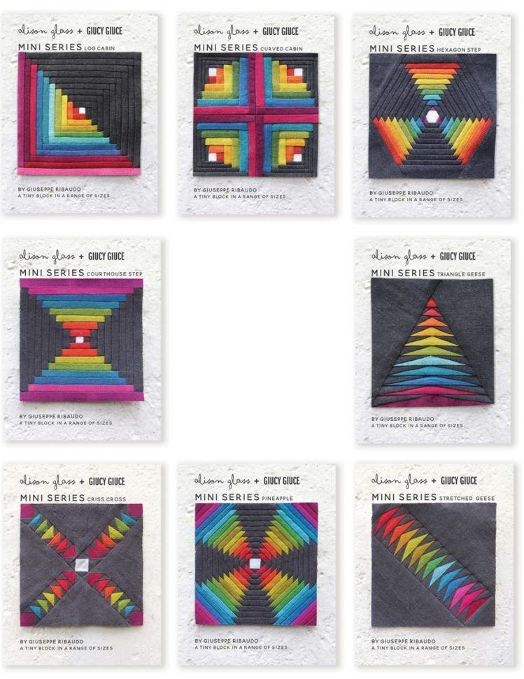 Mini Series 2018 and 2019 Full Collection 8 Quilt Mini Block Pattern Bundle
