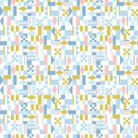 Figo Rollakan Geometric Shapes Diamond Quilt Block Tile Cathy Nordstrom Cotton Fabric