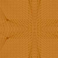 Quantum Interconnection Rust Orange Linear Geometric Lines Blender Giucy Giuce Cotton Fabric