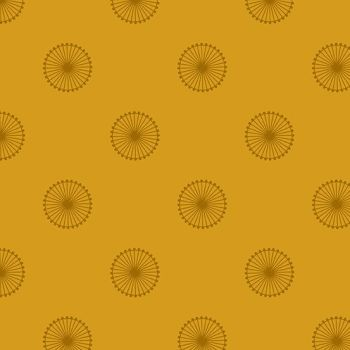 Quantum Chromosome Siena Mustard Yellow Circles Linear Geometric Lines Blender Giucy Giuce Cotton Fabric