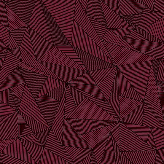 Quantum Terra Garnet Burgundy Linear Geometric Lines Blender Giucy Giuce Co