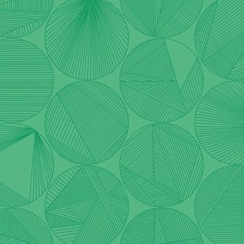 Redux Petri Algae Green Circles Linear Geometric Lines Blender Giucy Giuce Cotton Fabric