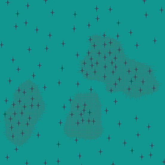 Redux Polaris Calypso Teal Stars Geometric Blender Giucy Giuce Cotton Fabri