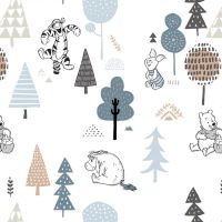 Disney Winnie the Pooh Friends Wonder & Whimsy Nursery Character Forest Friends Cotton Fabric