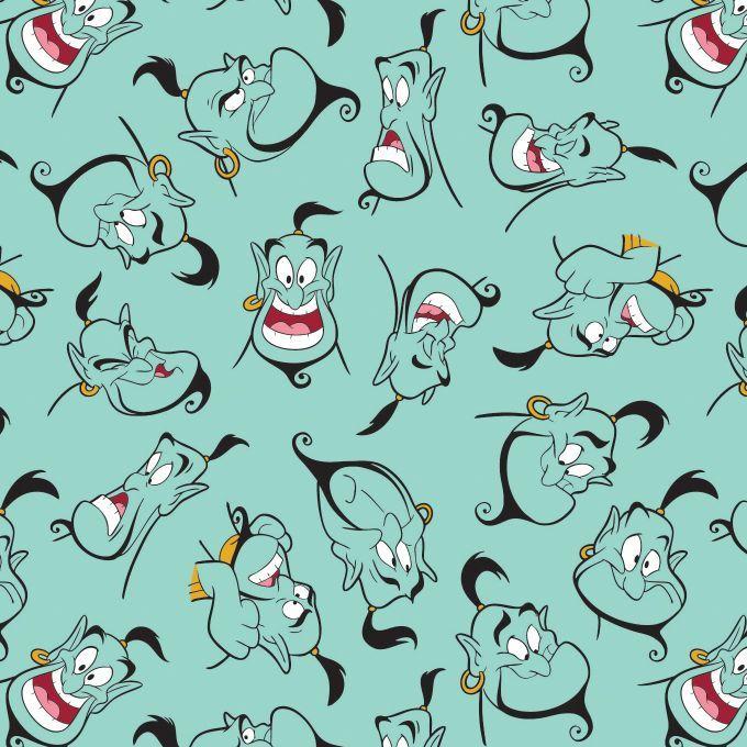Disney Aladdin Genie Light Teal Movie Character Cotton Fabric