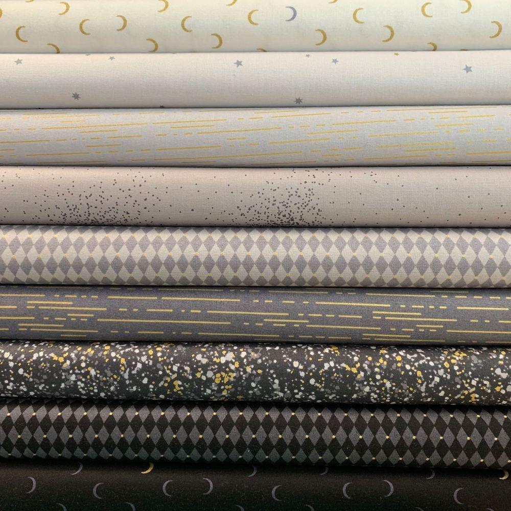 Libs Elliott Greatest Hits Vol 1 Grey Metallic 9 Half Metre Bundle Cotton F