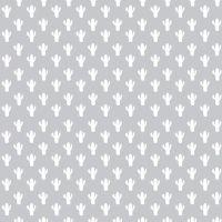 Azure Skies Cactus Gray Plant Silhouette Cactus Succulent Cacti White on Grey Cotton Fabric