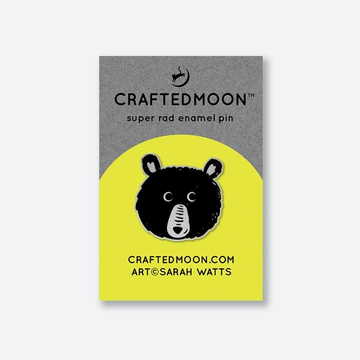 PRE-ORDER Crafted Moon Teddy Enamel Pin Sarah Watts Teddy and the Bears
