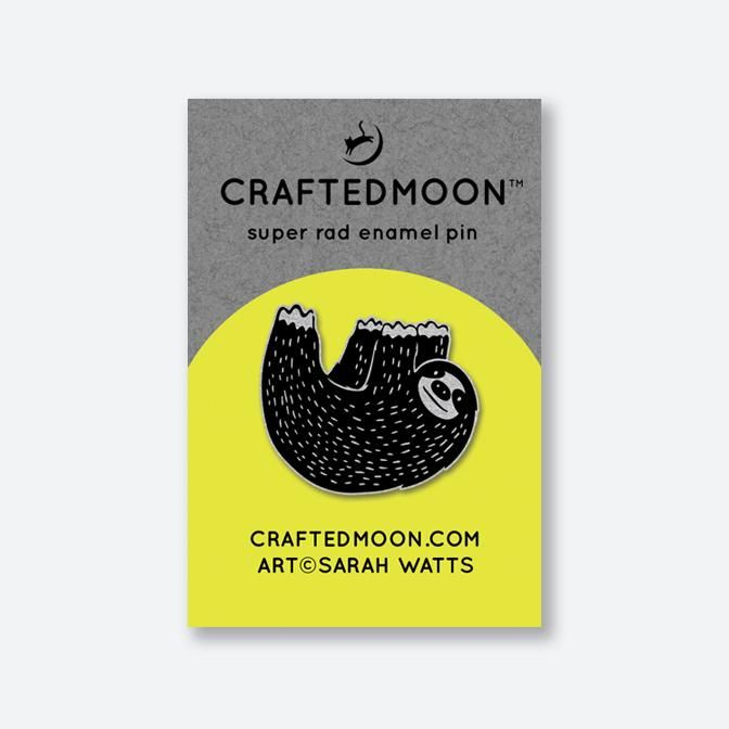 PRE-ORDER Crafted Moon Mister Sloth Enamel Pin Sarah Watts Honeymoon