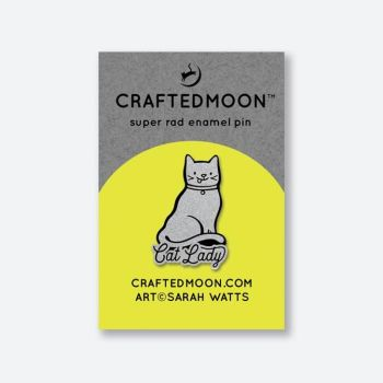 PRE-ORDER Crafted Moon Cat Lady Enamel Pin Sarah Watts