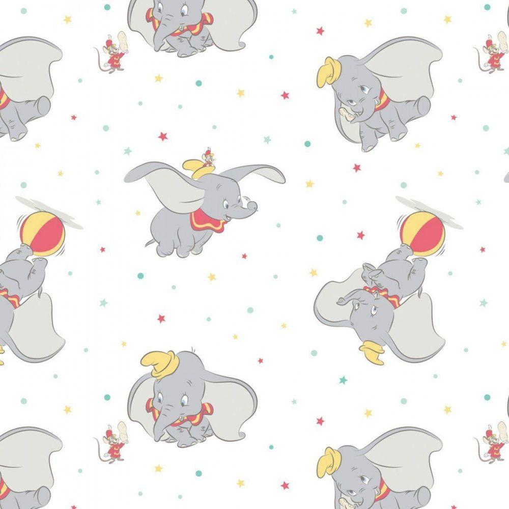 Disney Classics Dumbo Tossed Stars White Fun Baby Elephant Nursery DELUXE C