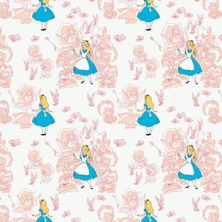 Disney Classics Golden Afternoon Flowers Blush Alice in Wonderland Lewis Ca