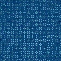 Declassified Cipher Tanzanite Dark Blue Symbol Linear Geometric Lines Blender Giucy Giuce Cotton Fabric