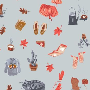 Hygge Kit In Canal Winter Slippers Pie Jumpers Pumpkin Scenic Autumn Leaves Dear Stella Cotton Fabric