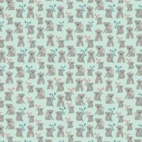 Joey Koalas Mint Koala Bear Australia Marsupial Cotton Fabric