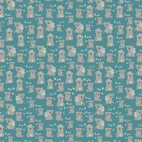 Joey Koalas Teal Koala Bear Australia Marsupial Cotton Fabric