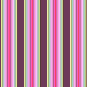 RARE Tula Pink Chipper Tick Tock Stripe Raspberry Cotton Fabric