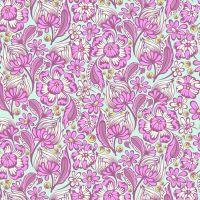 RARE Tula Pink Chipper Wild Vines Floral Raspberry Cotton Fabric