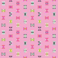 Tula Pink Spirit Animal Arrowhead Geometric Triangles Starlight Pink Cotton Fabric