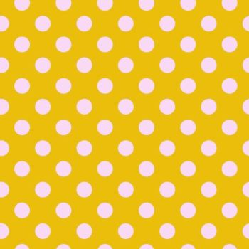 Tula Pink All Stars Pom Poms Marigold Spot Polkadot Geometric Blender Cotton Fabric