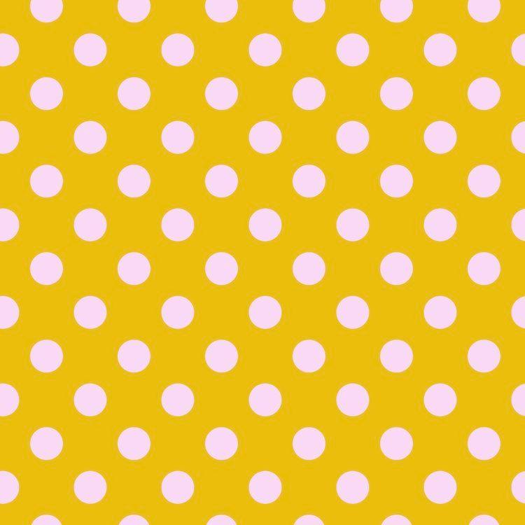 Tula Pink All Stars Pom Poms Marigold Spot Polkadot Geometric Blender Cotto
