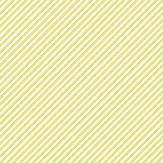 EXCLUSIVE Sweet Shoppe Candy Stripe Citron Yellow and White Bias Stripes Pi