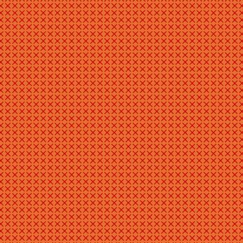Handiwork Cross Stitch Tiger Orange Alison Glass Crosses Cotton Fabric