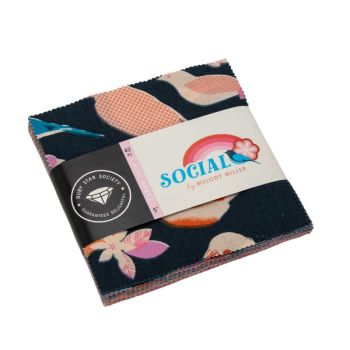 Ruby Star Society Social Spark Melody Miller Charm Pack 5 Inch Quilting Squares