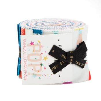 Ruby Star Society Pop! Zip! Rashida Coleman-Hale Junior Jelly Roll Quilting Strips Cotton Fabric