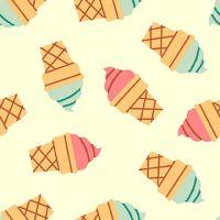 Icecream Cone Multi Icecreams Soft Serve Ice Cream Cones Food Trucks Jeannie Phan Snack Cotton Fabric