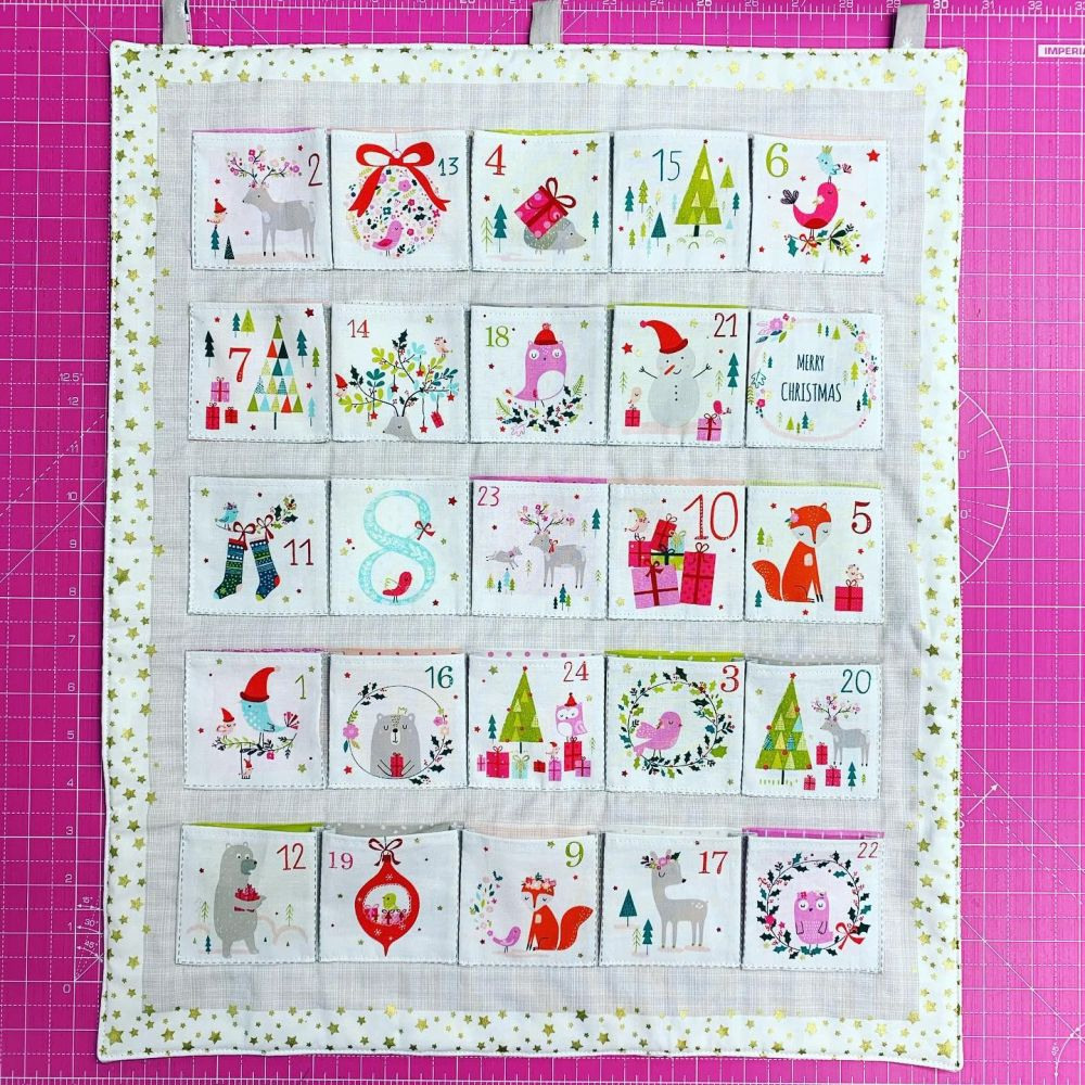 Advent Calendar Kit Christmas DIY Panel Joli Noel 2019 Metallic Animals Pro