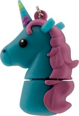 Tula Pink Hardware Blue Unicorn 16GB 16 Gigabyte USB Stick Flash Drive