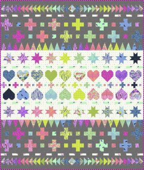 IN STOCK HomeMade Tula Pink Decorative Stitches Quilt Kit with Fabric and Printout of Pattern