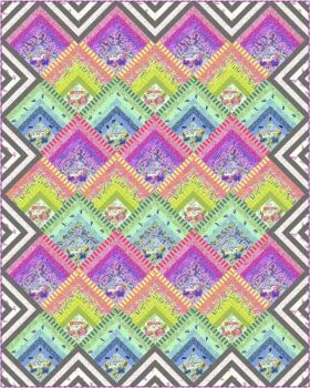 IN STOCK HomeMade Tula Pink Electric Slide Quilt Kit with Fabric and Printout of Pattern