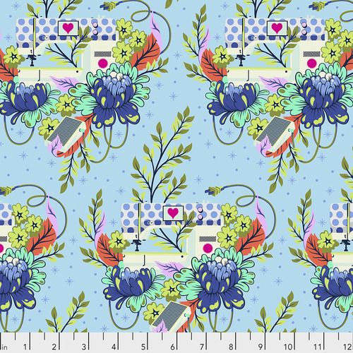 PRE-ORDER Tula Pink HomeMade Pedal to the Metal in Noon Cotton Fabric