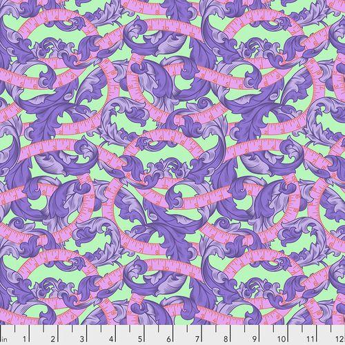PRE-ORDER Tula Pink HomeMade Measure Twice in Night Cotton Fabric
