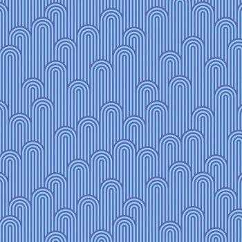 Tula Pink Zuma Tower 7 Geometric Aquamarine Stripe Cotton Fabric