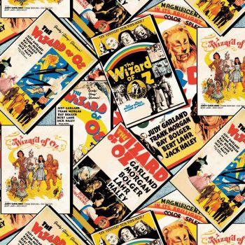 DESTASH 1.6m Wizard of Oz Movie Posters Cinema Dorothy Tin Man Cowardly Lion Scarecrow Toto Cotton Fabric