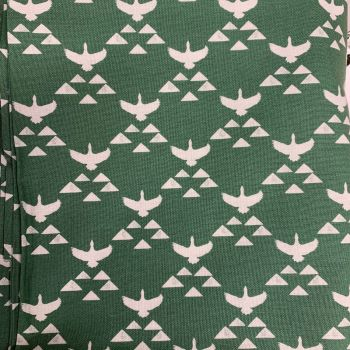 DESTASH 3.94m Length True North Geese Triangle Flight Green Sweet Bee Designs Cotton Fabric