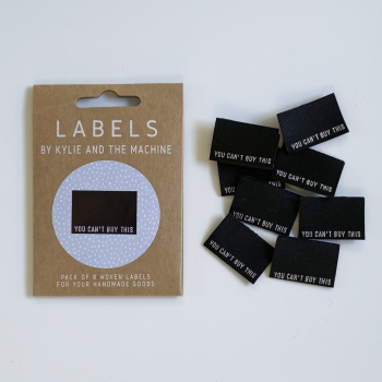 "Kylie and the Machine ""YOU CAN'T BUY THIS"" Woven Labels 8 Pack"
