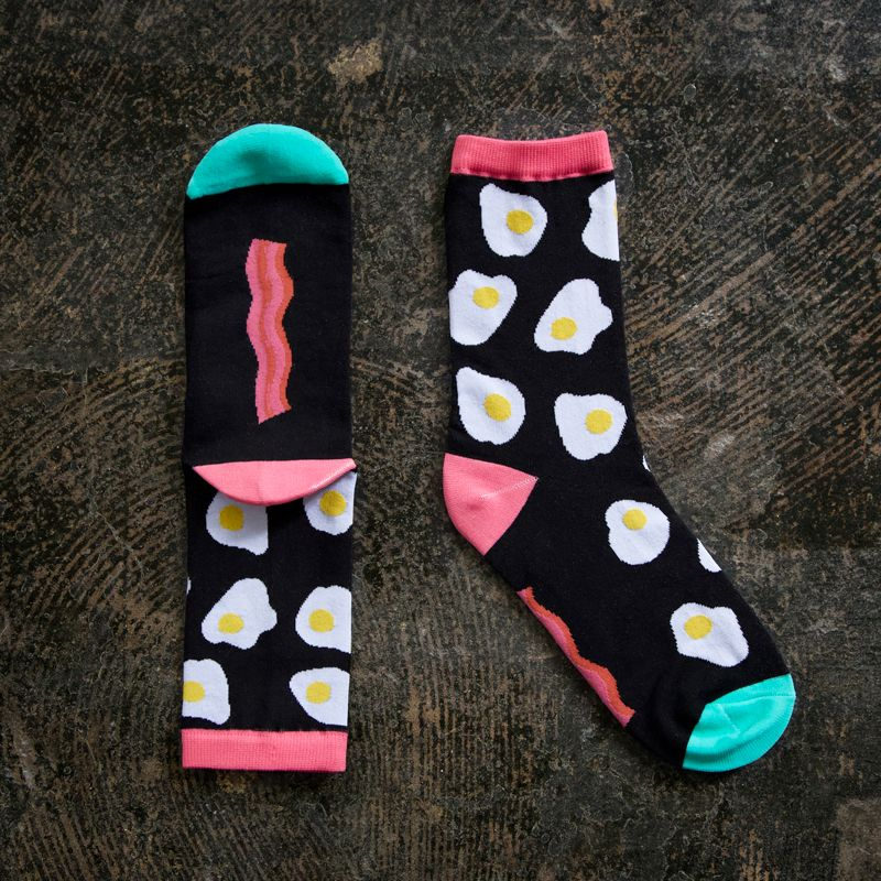 Bacon and Eggs Ruby Star Society One Size Fits Most Cotton Blend Socks by K