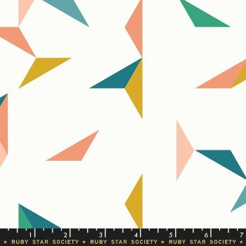 Darlings 2019 Tangrams Cream Soda Geometric Triangle Ruby Star Society Cotton Fabric