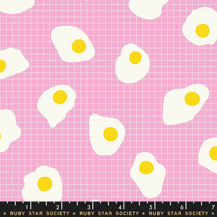 Darlings 2019 Fried Eggs Orchid Grid Ruby Star Society Cotton Fabric