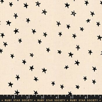 Darlings 2019 Starry Black Star Stars Ruby Star Society Cotton Fabric