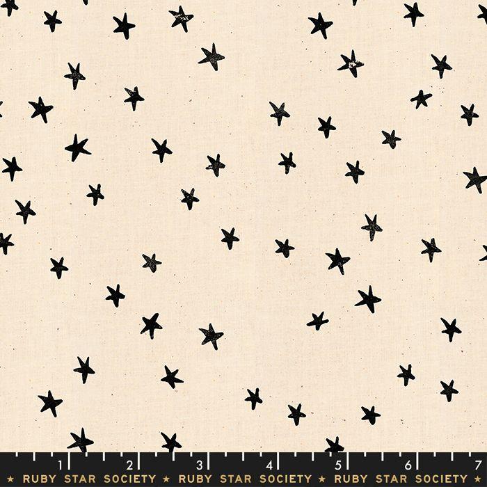 Darlings 2019 Starry Black Star Stars Ruby Star Society Cotton Fabric