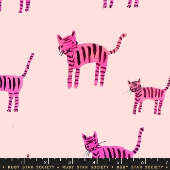 Darlings 2019 Tiger Stripes Hot Pink Ruby Star Society Cotton Fabric