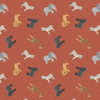 Small Things World Animals African Animals on Earth Cotton Fabric