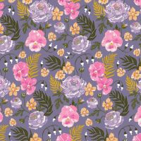 Botany Pansies Multi Flowers Pansy Flower Floral Botanical Dear Stella Cotton Fabric